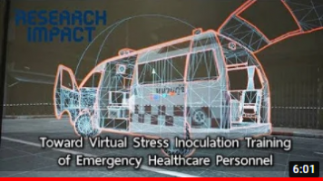 Toward Virtual Stress Inoculation Training of Emergency Healthcare Personnel-Research Impact